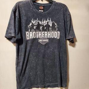Harley Davidson Tshirt Brotherhood San Juan PR